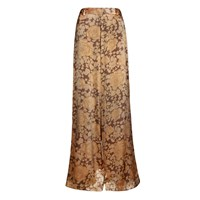 The Bee's Sneeze Nude Flower Print Palazzo Trousers Nude Neutrals