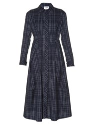 Jil Sander Baobab Checked Long Sleeved Shirtdress Black Grey