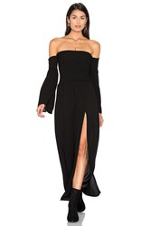 Blue Life Off Shoulder Maxi Dress Black