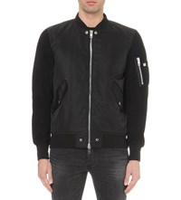 Diesel J Kitten Shell And Suede Jacket Black
