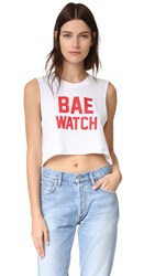 Private Party Bae Watch Cropped Tee White