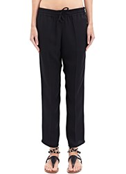 Valentino Pleated Silk Cropped Pants