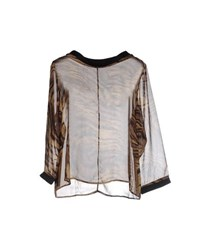 Amy Gee Shirts Blouses Women Military Green