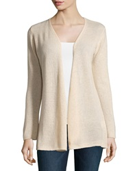 Minnie Rose Cashmere Open Front Duster Cardigan Sand