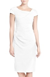Women's Adrianna Papell Ruched Matte Jersey Sheath Dress Ivory