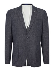 Peter Werth Charles Fleck Button Blazer Navy