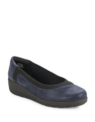 Easy Spirit Kathleen Slip On Wedges Navy Blue