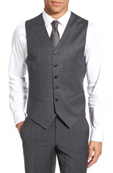 Ted Baker Men's London 'Jones' Trim Fit Solid Wool Vest Grey