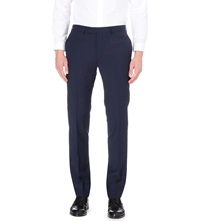 Sandro Wool And Mohair Blend Slim Fit Trousers Blue