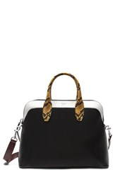 Mulberry Colville Leather Satchel With Genuine Snakeskin Trim