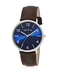 English Laundry Stainless Steel Interchangeable Leather Strap Watch Silver