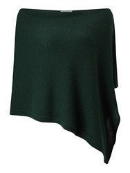 Jigsaw Knitted Ribbed Border Poncho Bottle Green