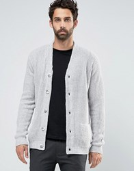 New Look Cardigan With Pockets In Grey Grey Pattern
