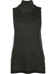 Obey Knitted Tank Top Green