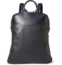Bill Amberg Lewis Convertible Leather Backpack Black