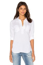 7 For All Mankind Patch Button Up White