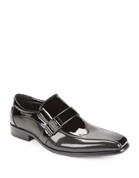 Kenneth Cole Reaction Big News Patent Loafers Black