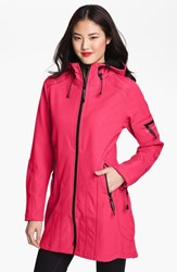 Women's Ilse Jacobsen 'Rain 7' Hooded Water Resistant Coat Sweet Rose