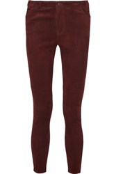 Rebecca Minkoff Philly Suede Skinny Pants Burgundy
