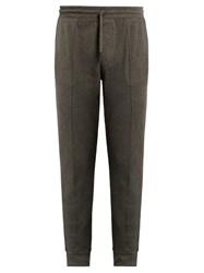 Polo Ralph Lauren Seamed Front Cotton Track Pants Charcoal