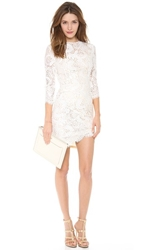 Lover Mia Asymmetric Dress Ivory