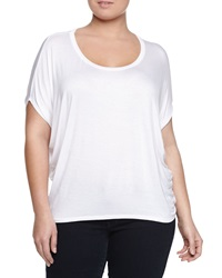 Melissa Masse Short Sleeve Dolman Tee White