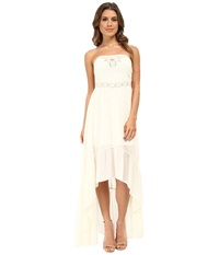 Gabriella Rocha Krystal Strapless Hi Low Maxi Dress Ivory Women's Dress White