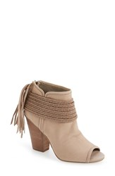 Bcbgeneration Women's 'Cinder' Block Heel Bootie Smoke Taupe Leather