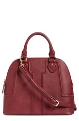Sole Society 'Marlow' Structured Dome Satchel Red Red Cordovan