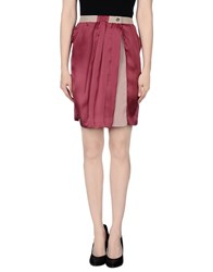 Massimo Rebecchi Skirts Knee Length Skirts Women Garnet