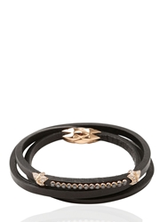 Tomasz Donocik Rose Gold Stars Bracelet Brown Black