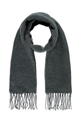 Forever 21 Fringed Scarf Grey