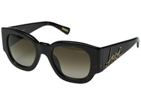 Lanvin Sln 630 Shiny Dark Havana Brown Gradient Green Fashion Sunglasses Black