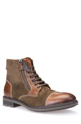 Geox Men's 'Rick Move Mid' Cap Toe Boot Brown Leather