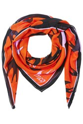 Mcq By Alexander Mcqueen Printed Scarf Red