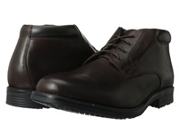 Rockport Essential Details Waterproof Dress Chukka Dark Brown Men's Lace Up Boots