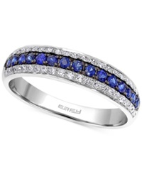 Effy Collection Effy Sapphire 1 5 Ct. T.W. And Diamond 3 8 Ct. T.W. Band In 14K White Gold
