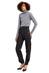 Vejas Curved Cuff Pants Black Denim