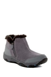 Easy Spirit Prisco Faux Fur Ankle Boot Gray