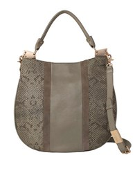 Foley Corinna Dione Cerberus Leather Hobo Safari Snake
