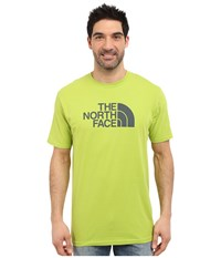 The North Face Short Sleeve Half Dome Tee Macaw Green Spruce Green Men's T Shirt Yellow