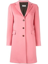 Alberto Biani Single Breasted Coat Pink And Purple