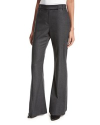Brunello Cucinelli Cotton Flannel Flare Leg Pants Anthracite