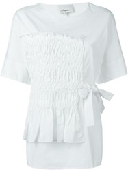 3.1 Phillip Lim Ruched Detail Blouse White
