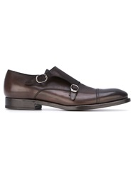 Henderson Fusion Classic Monk Shoes Brown