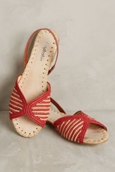 Anthropologie Farylrobin Maera Slingbacks Red 10 Wedges