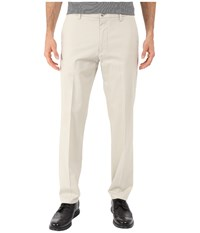 Dockers Signature Khaki Slim Tapered Flat Front Cloud 1 Men's Casual Pants White