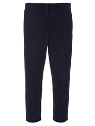 Tomorrowland Drawstring Cotton Pique Trousers Navy