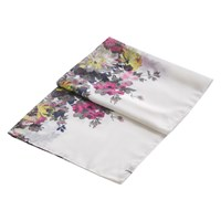 Joules Wensley Floral Print Scarf Cream Multi