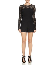 1.State Lace Romper Rich Black